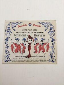 Vtg 1955-60 Disneyland Pepsi's The Golden Horseshoe Musical Review Table Tent Ca