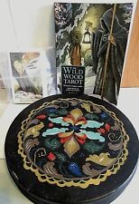 OLIVE TIN CHICAGO AND WILD WOOD TAROT DECK AND BOOK USED MISSING ONE CARD FOLK