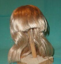 "Peluca de muñeca/cabello humano 12.5"" a 13.5"" de largo de hombro Rubio, flecos Tejido A Mano"