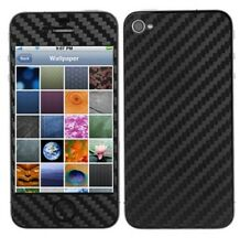 Skinomi Carbon Fiber Black Phone Skin+Screen Protector for Apple iPhone 4S AT&T