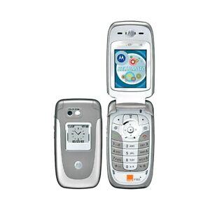 Téléphone Cellulaire Motorola V360 Gsm Gris Silver Appareil Photo Usagé