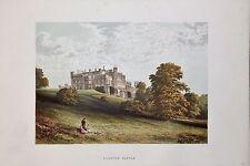 Lambton Castle, Durham. Antique Topographical House Print, Morris Country Seats