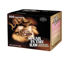 Natural Cane Sugar In The Raw Packets, 500 Counts