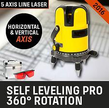 NEW Laser Leveling Self Level Rotary Rotating Line Cross Red Beam Levelling 4V1H