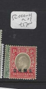 SOMALILAND   (PP1801B)   KE OFFICIAL   SG O10-1   MOG