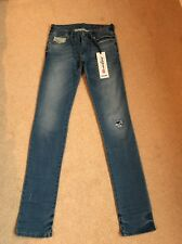 NEW Women's Diesel Grupee-NE Skinny Destroyed Jogg Jeans W23 L32 (1125)