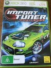 IMPORT TUNER CHALLENGE XBOX 360 ORIGINAL AUS PAL VGC Missing Manual