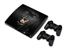 PS3 PlayStation 3 Slim Skin Design Foils Aufkleber Schutzfolie Set - Panther
