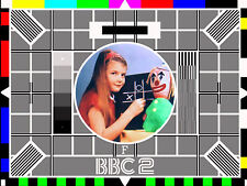vintage retro nostalgic TV testcard decorative metal sign wall door plaque gift