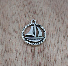NEW Jewelry Findings,Charms,Pendants, Ancient Silver  Sailing Boat  10pcs