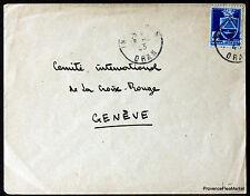 ARGELIA 1943 CARTA ORAN SUIZA SOBRE 165CA15