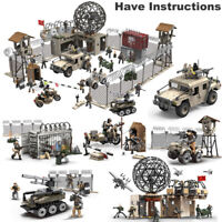 Call of Duty Military Radar Base Soldiers Fit WW2 MiniFigures Mega Construx Lot