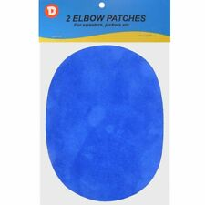 Two Faux-Suede Iron-On Elbow Patches 4.5  x 5.5 in - Royal Blue