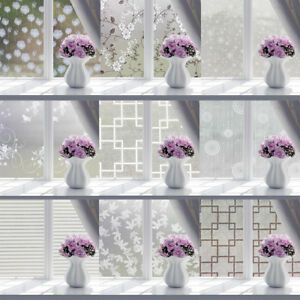 Frosted Window Privacy Film Sliding Glass Door Self Adhesive Vinyl Decal STICKER
