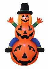 Thanksgiving Air Blown Blow up LED Inflatable Yard Decoration Scarecrow Pumpkins
