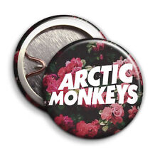 Arctic Monkeys - Floral Logo - Button Badge - 25mm 1 inch - Parody Style