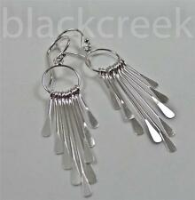 Sterling Silver Feather like sticks~ Chandelier  Earrings~Dangle ~ French wire ~
