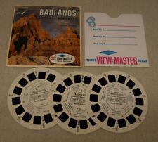 Vtg Sawyers Viewmaster 3 Reel Set Badlands National Monument South Dakota A489