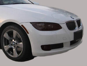 07-13 BMW 3 series 328 335 M3 (coupe/cnv) smoked tinted HEADlight covers vinyl