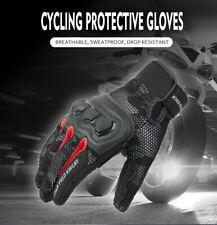 KODASKIN Motorcycle Street Bike Carbon Leather Riding Textile Mens Summer Glove