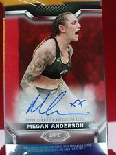 ⚡NEW 2020 TOPPS UFC RED RUBY Knockout - MEGAN ANDERSON AUTO KA-MA # 4/8 SIGNED⚡