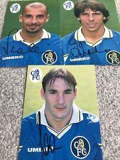 More details for gianluca vialli, zola & ferrer - signed chelsea postcards