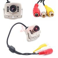 Mini 6LED Wired CMOS CCTV Security Camera Night Vision Hidden Pinhole Spy Camera