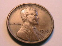 1919-S Lincoln VF+ Very Fine Wheat Cent Nice Original Brown Penny Bronze US Coin