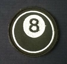 8 SPOT POOL BALL THE BLACK SNOOKER BILLIARDS  BADGE IRON SEW SOW ON PATCH