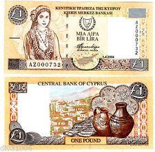 Chypre CYPRUS Billet 1 POUND 2004 P60 LOW SERIAL N° AZ 00073x NEUF UNC