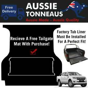 Rubber Ute Mat for Ford PX Ranger - 2011 - Current (with Factory Tub Liner)