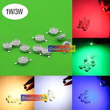 1W 3W watt Cold White 10000-15000K led chip red blue green royal blue warm white