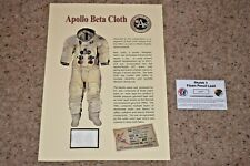Skylab Flown Pencil Lead and Apollo Beta Cloth - NASA , Space, Neil Armstrong