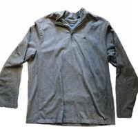 Tommy Bahama Mens Size XL Ls Black Gray 1/4 Zip Pullover Sweatshirt Sweater EUC