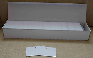 500 Plastikkarten mit Rundlochstanzung an der langen Kartenseite PVC Karten