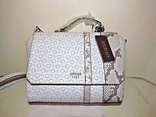 "Designer GUESS Purse, Handbag ""Swim"" in white multi FREE USA Shipping!"
