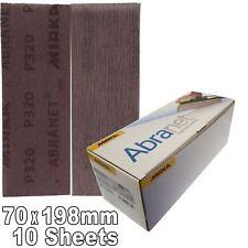 Abranet Lot de 10 bandes abrasives mixtes pour tournage du bois