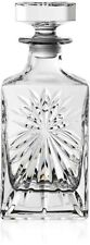 RCR 51530020006 Crystal Glassware Oasis Square Whisky / Wine Decanter 85 CL / 8