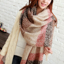 Fashion Women Winter Warm Mohair Scarf Tassel Soft Long Neck Shawl Wrap Stole US
