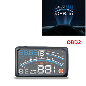 OBD2 Car Digital Head Up Display Gauge Speedometer Projector Speed Warning Alarm