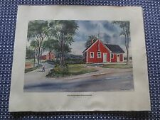 LITTLE RED SCHOOL HOUSE, Farmington, ME Original Watercolor Print - C. R. TYLER