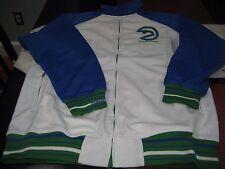 MENS Mitchell & Ness RETRO ATLANTA HAWKS TRACK Jacket WHITE/GREEN/BLUE 60 4XL