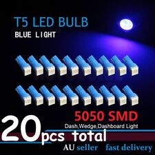 20pcs T5 Wide Angle Blue Wedge Dash LED 5050 Cluster Speedometer Bulb 37 74 286