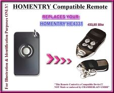 Homentry HE4331, Homentry HE60, HE60R compatible remote control 433,92Mhz