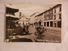 Vecchia foto cartolina d epoca di Campagnola Piazza Roma chiesa palazzi da per