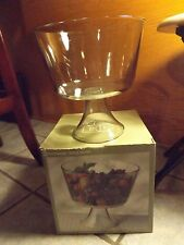 Indiana Glass Serveware Trifle Bowl - 8-1/2 Inch - New In Box - Clear Glass