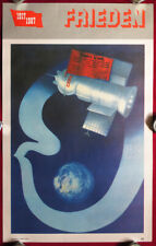 ORIGINAL Soviet SPACE 1987 Poster SPACESHIP –SOYUZ– Czechoslovakia Russian USSR
