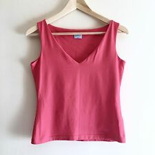 Neon Pink Oasis Blouse. UK 12 (UK 8, UK 10, V Neck, Sleeveless)