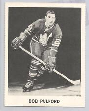 1965-66 Coca Cola Hockey Bob Pulford Card Near Mint Condition