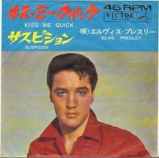 "ELVIS PRESLEY ""KISS ME QUICK"" 1964 SP VICTOR 1438 JAPON !"